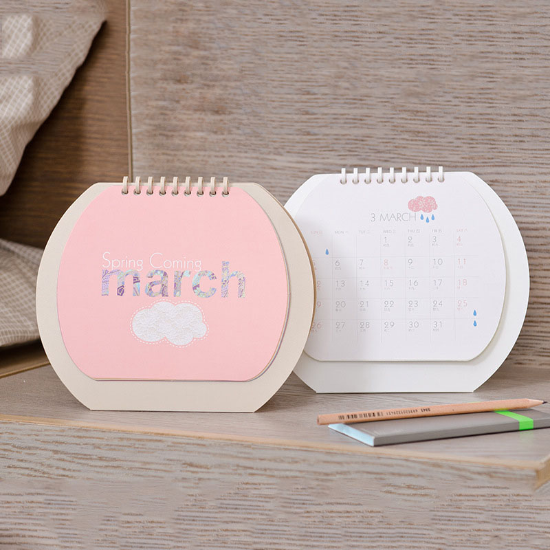 Reliable New Year Calendar 2019 Fashion Simple Lovely Mini Table Calendars Vintage Kraft Paper Desk Calendar Office School Supply Calendar Office & School Supplies