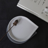 Water Drop Shape Design Pallet Concrete Silicone Mold diy Candle Tray Cement Gypsum Crafts Storage Dish Mould