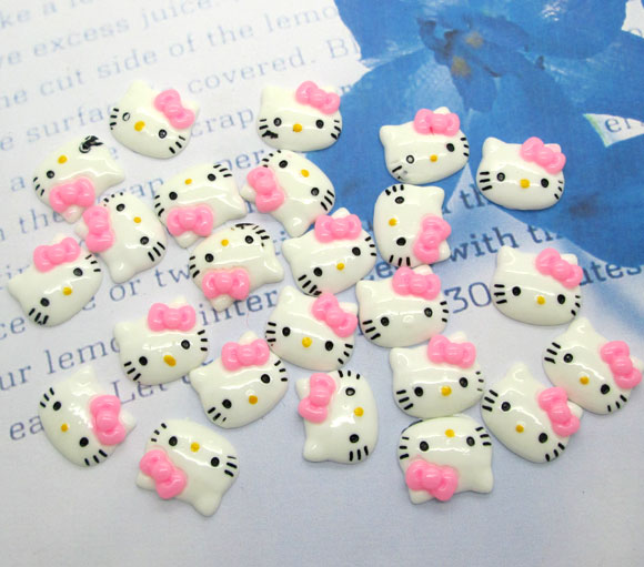 LF 50Pcs Resin Cats Decoration Crafts Flatback Cabochon Embellishments For Scrapbooking Kawaii Cute Diy Accessories