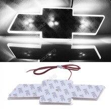 ANGRONG белый светодио дный автомобилей Наклейка Логотип свет эмблема Стикеры для CHEVROLET CRUZE Размеры: 17 см X 5,5 см (CA018/44/49)