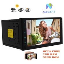 Android 7.1 Octa-core 2GB&32GB Car Stereo Double Din 7″ In Dash GPS FM/AM RDS Radio Receiver Head Unit Bluetooth+Wireless Camera