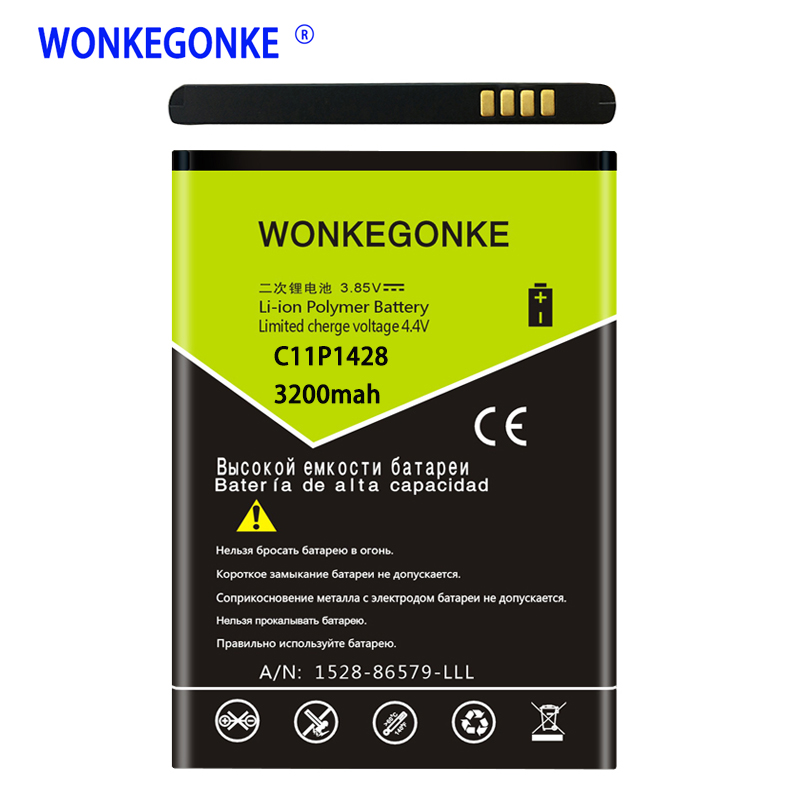 <font><b>Battery</b></font> charging 100% WONKEGONKE C11P1428 <font><b>battery</b></font> <font><b>for</b></font> <font><b>asus</b></font> <font><b>Zenfone</b></font> <font><b>2</b></font> <font><b>Laser</b></font> 5