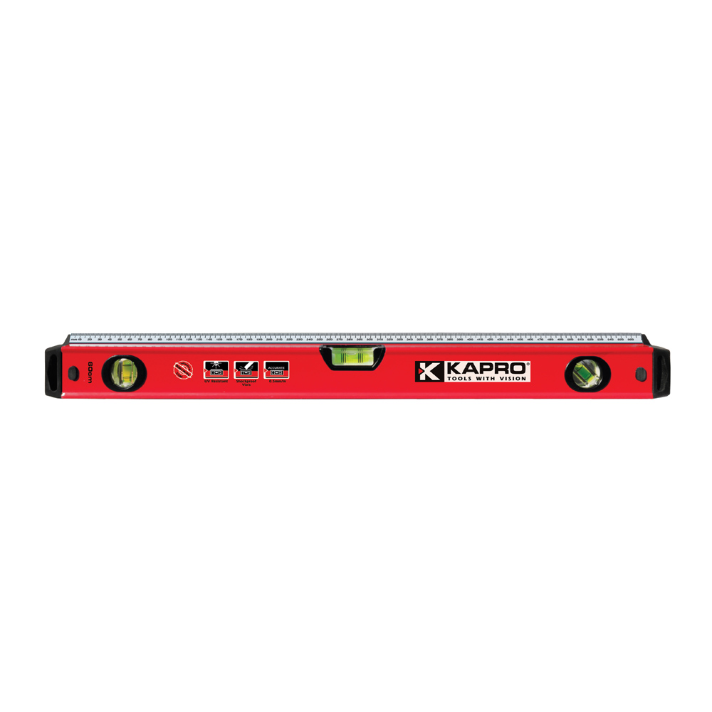 Free Delivery KAPRO TOOLS PRO LEVEL 1000MM WITH STEEL RULE - INTEGRATED RULER FEATURE free delivery level 24 in lightweight hard plastic 3 bubble triple ruler measure tool