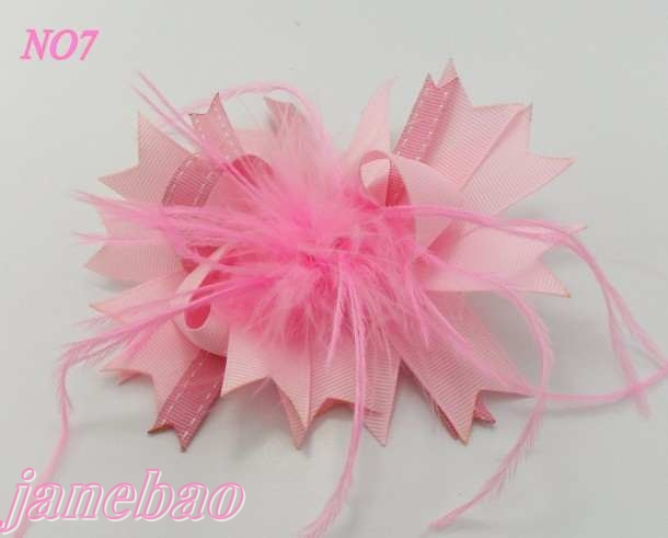 500 шт. бутик модной одежды девушка волосы луки перо кланяется популярны фанки волосы Луки