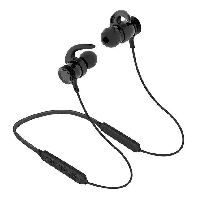 33c0ef54b88 Auriculares Bluetooth banda para el cuello Auriculares inalámbricos Sport  Fitness magnético estéreo Auriculares Cancelación de ruido