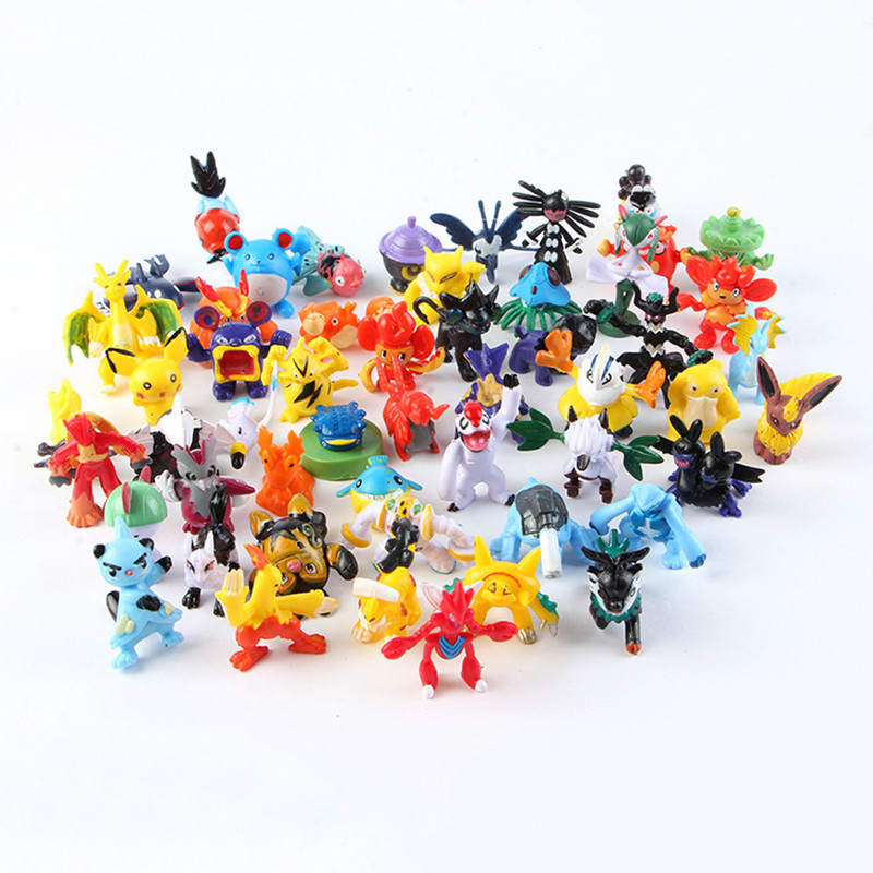 144Pcs Not Repeating 2-3cm Mini Monster Collection Figures Toys Random Anime Toy PVC Figures Dolls Anime Monster Figures Dolls