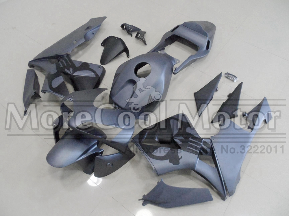 CBR600RR 2003 2004 Matte Grey Fairing Mold For Honda CBR 600 RR 03 04 With Skull Stickers arashi motorcycle parts radiator grille protective cover grill guard protector for 2003 2004 2005 2006 honda cbr600rr cbr 600 rr