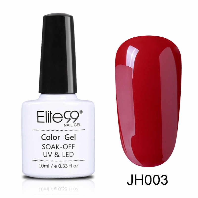 Elite99 10ml şarap kırmızı renk UV jel oje saf jel vernikler tırnak jeli astar uzun ömürlü kapalı islatın UV jel tırnak sanat manikür