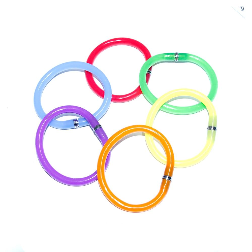 2 Pcs Creative Flexible Ball Pen Cute Soft Plastic Bangle