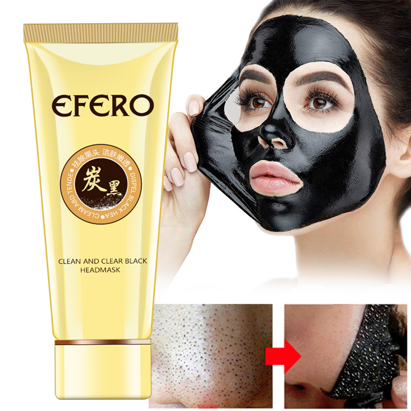 EFERO 1PCS Black Mask For Face Blackhead Remover Acne Removal Suction Pore Strip Head Peel Off Masks Skin Care