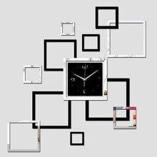2016 Nueva Acrílico reloj de Pared Reloj de Pared Pegatinas de pared Decoración Pegatinas Diy 3d Europa Mariposa Caballo Posters Decoración Vinilos de París