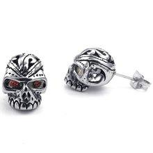 Red Eye Skull Earrings