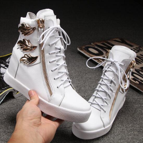 Embelezado As Zip De Ouro Pic Frente Folhas Casuais Formadores High Lace Side Up Ocultas Zapatillas Cunhas Mujer Deportivas Winged Top Sapatos Pic as ffvFH0q