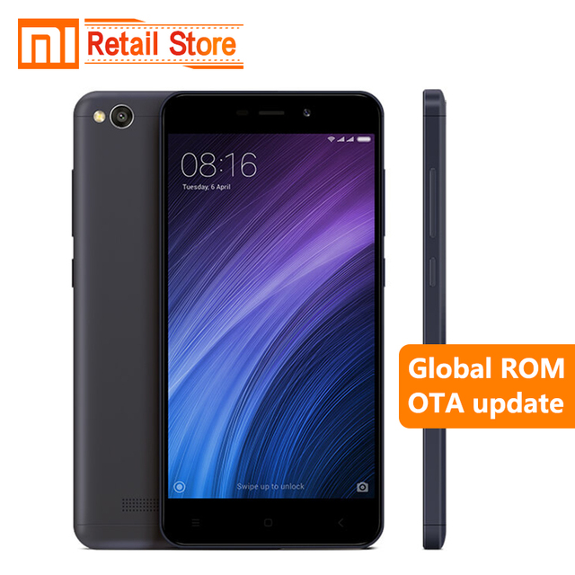 Original Xiaomi Redmi 4A 2GB RAM 16GB ROM 5.0″ Snapdragon 425 Quad Core Mobile Phone 3120mAh Battery 13.0 MP Camera Smartphone