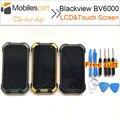 Blackview bv6000 acessórios lcd substituição da tela de 100% original display lcd + touch screen para smartphones blackview bv6000