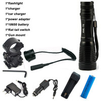 CREE XM T6 Flashlight 6000Lumens LED Tactical Flashlight Aluminum Hunting Flash Light Torch Lamp 18650 Charger