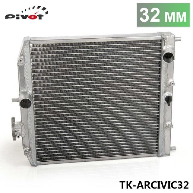 PIVOT-1Row Completa Corridas De Alumínio Radiador Do Carro Para Honda Civic EK EG DEl Sol Manual de 92-00 32 MM D15 D16 TK-ARCIVIC32