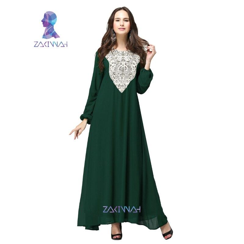 HSZ-10009 ny sommar design muslimsk Chiffon Casual kvinnor plagg plus - Nationella kläder - Foto 2