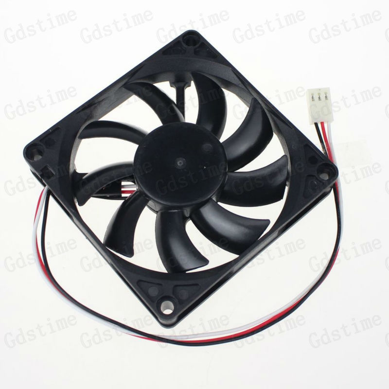 Gdstime 1Pcs 3pin 80mm x 15mm 80x80x15mm 8CM 12V Computer CPU Cooler Cooling Fan