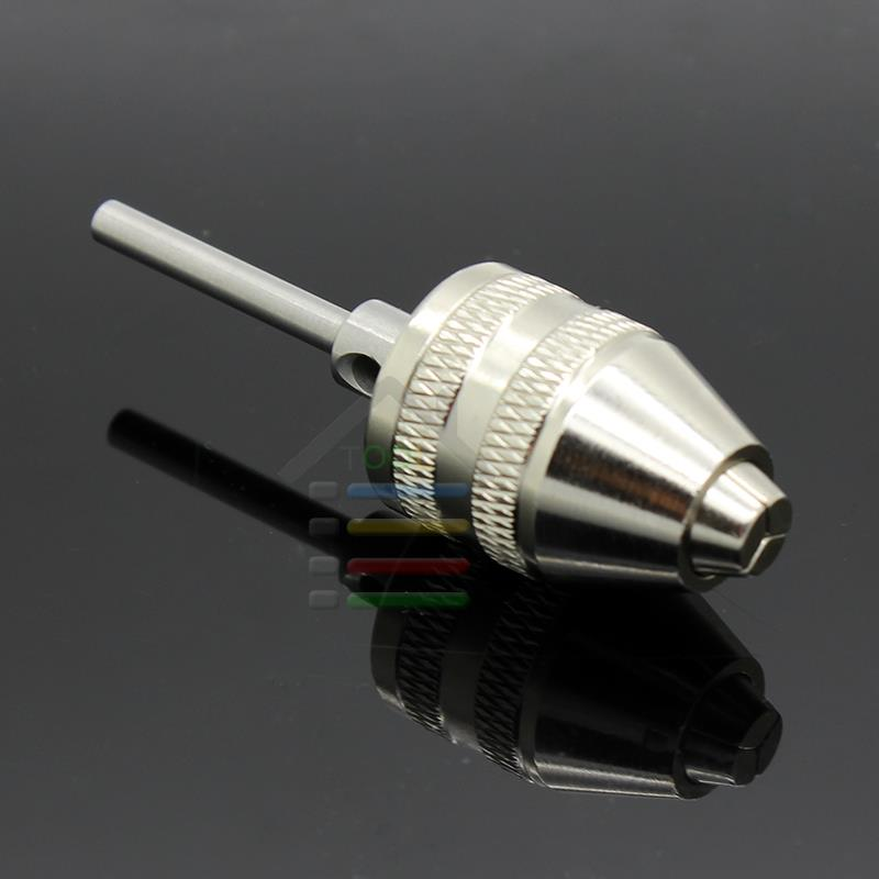 Keyless Chuck Drill Quick Change Adapter Driver 3mm shaft Capacity 0-4mm For Electric Motor Grinder Dremel Rotary Tools