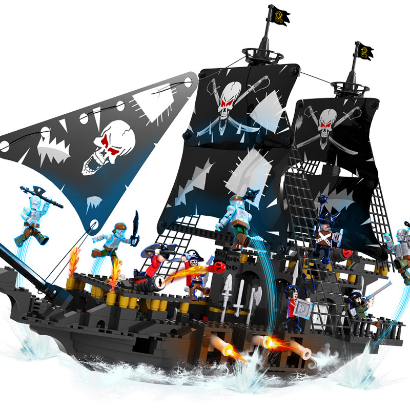 Enlighten NEW Pirates Of The Caribbean Brick Bounty Pirate Ship Building Blocks Christmas Gifts for kids toys for children 870pcs new pirates of the caribbean brickbeard s bounty 308 model building blocks bricks educational toys compatible with lego