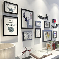 Nordic Simple Big Size Wooden Picture Frames Living Room Decoration Wedding Photo Frame Wall Art Picture Holder Photo Frame Set