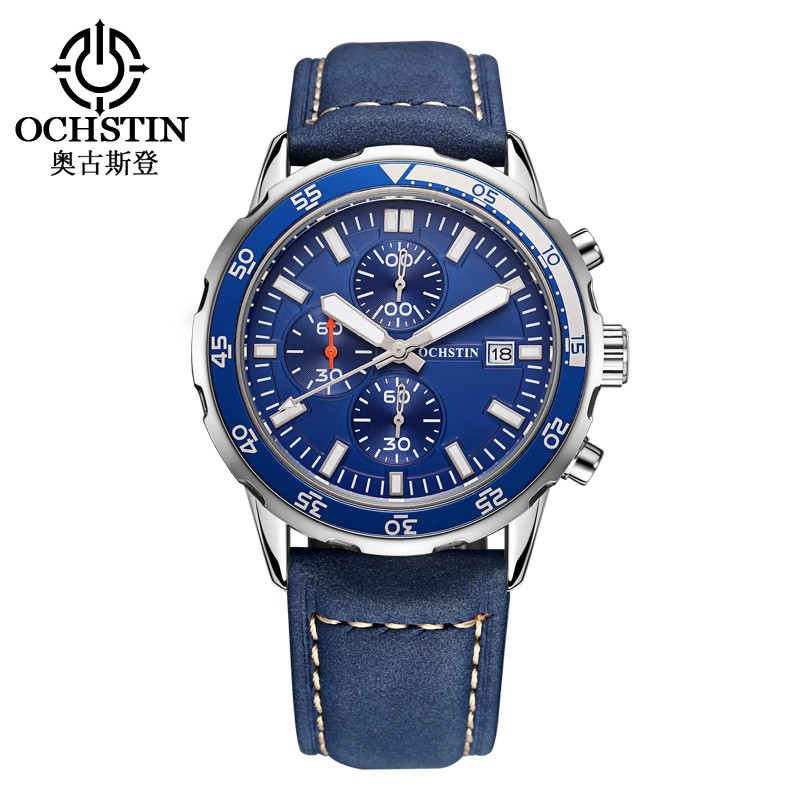 Prix pour Marque de luxe OCHSTIN Montres Hommes Montre À Quartz Hommes En Cuir Montre De Mode Sports Occasionnels Montre-Bracelet Homme Horloge relojes hombre