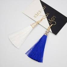 цена на Fashion Long Tassel Earrings Women Jewelry Bohemian Bride Earrings Geometric Hollow Drop Earring