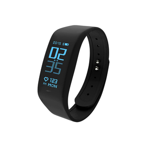 Image 1 - Smart Bracelet Fitness tracker Heart Rate Monitor passometer call message reminder Compatible for andriod ios pkhuawei Band