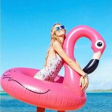 120 CM Venta Caliente Flamenco Inflable Juguete de la Piscina Flotador Inflable de Color Rosa Lindo Montar-En El Anillo de Natación Piscina de Agua Holiday Party Fun