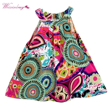 Toddle Kids Clothes Summer Girls Dress Sleeveless Floral Princess Party A-Line Dresses 3-8Y