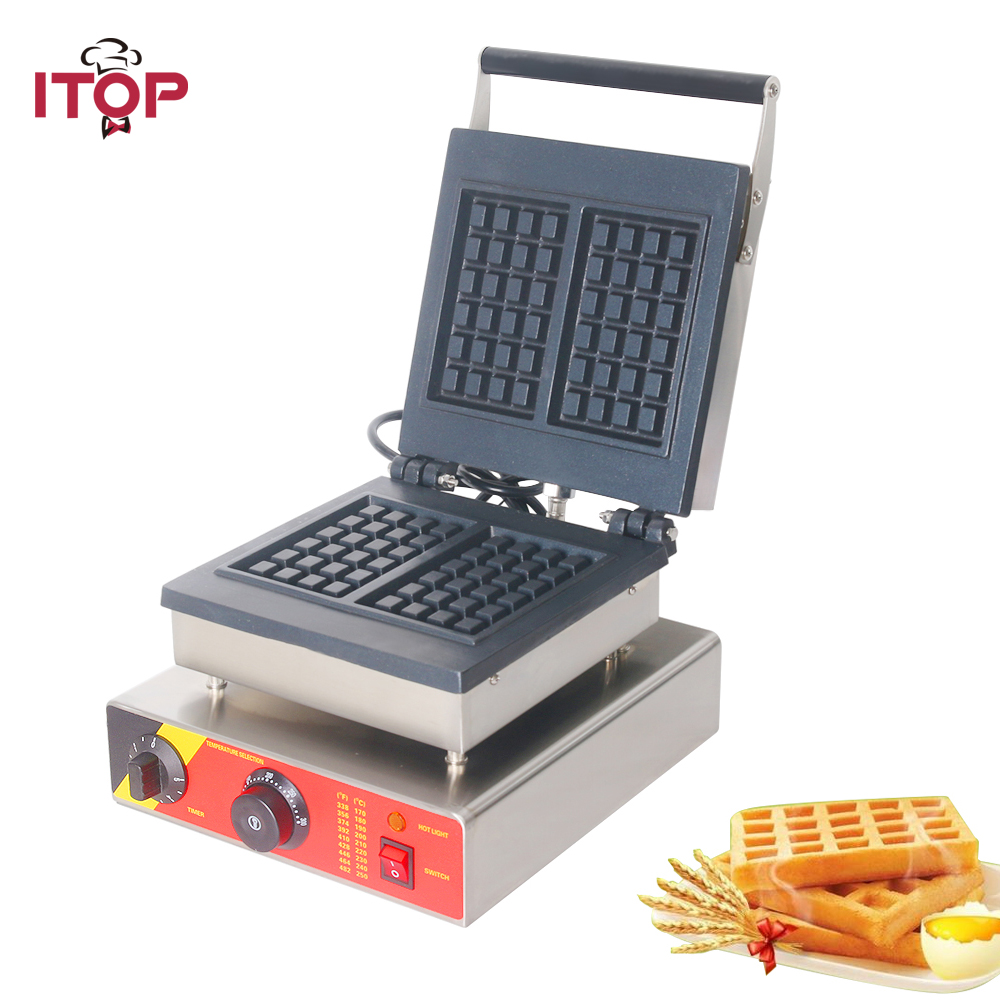 ITOP 2 square Electric Waffle Maker Bubble Egg Cake Oven Bakeware Timer Thermostat control Cake Baking waffle oven 110V 220V