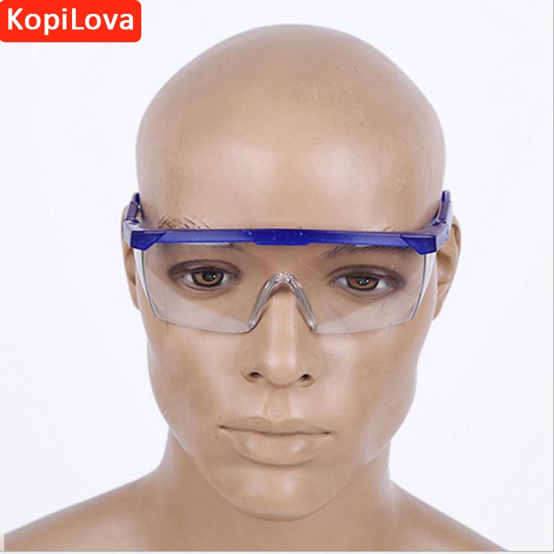 цена на KopiLova 1pcs  Eye Protection Safety Goggles Anti Dust Windproof Glasses Aviod Sputtering Workplace Supplies Goggles