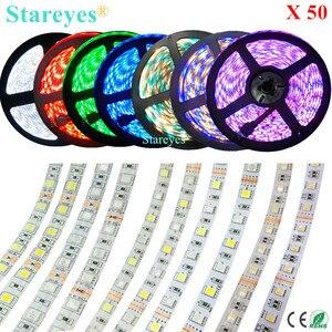 50 sztuk SMD 5050 60 LED/M biały ciepły biały RGB RGBW RGBWW 4 w 1 RGBW listwa LED RGBWW taśmy oświetlenie IP20 IP65 wodoodporna