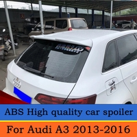 For Audi A3 Sportback Spoiler High Quality Brand New ABS Auto Wing Spoilers Car Accessories For A3 spoiler 2013 2014 2015 2016