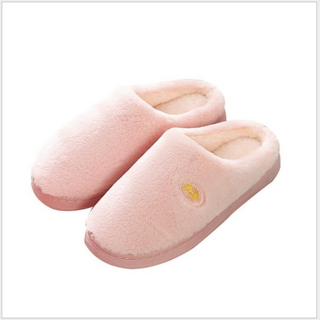 27ce758bc7434 US $8.83 31% OFF Women Spring Home Slippers Imitation rabbit wool cotton  Shoes Non slip Soft Winter Warm House Slippers Indoor Lovers Couples Flo-in  ...