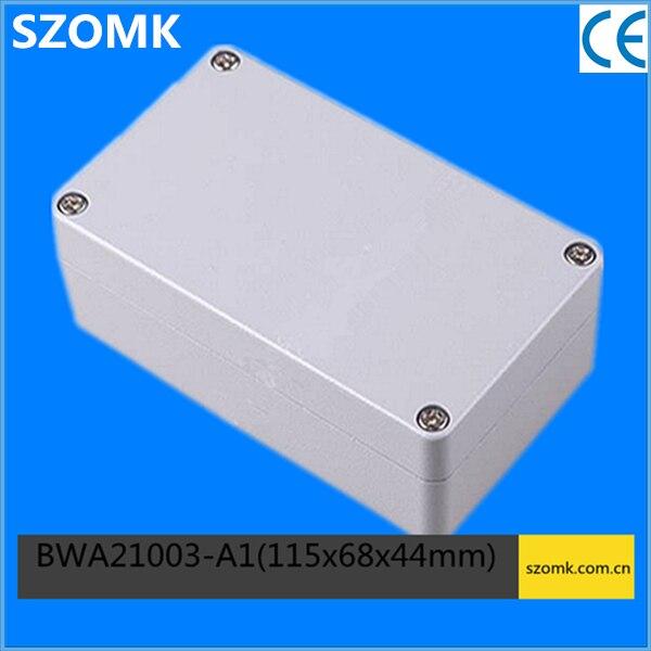 1 piece, aluminum waterproof electronics cabinet 115*68*44mm waterproof enclosure aluminum enclosure