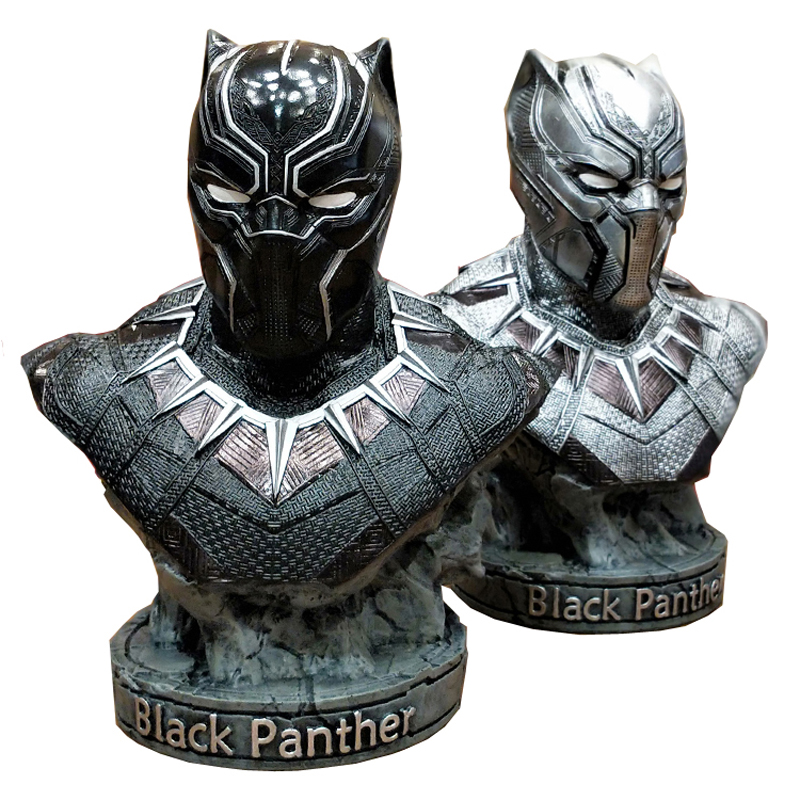 36cm Black Panther 1/2 Bust Statue Avengers: Infinity War Fighters Resin Handmade Endgame Collection Decoration R102536cm Black Panther 1/2 Bust Statue Avengers: Infinity War Fighters Resin Handmade Endgame Collection Decoration R1025