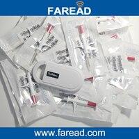 1pc Animal Handheld Reader RFID 134 2KHz X60pcs 2 12 12mm Animal Microchip Injector FDX B