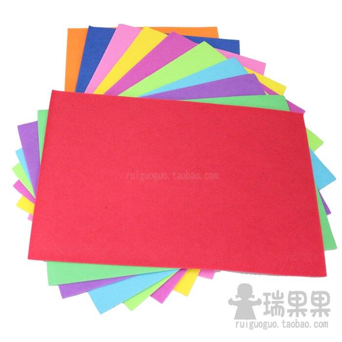 A4 multicolour sponge paper foam paper handmade eva for Diy colored paper