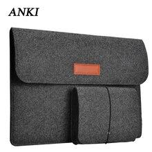 Bolsa para notebook xiaomi air, capa de lã para macbook pro retina 11 13 15 12.5 13.3 tampa superfície do laptop 13.5,