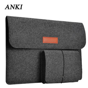 Image 1 - Wool Felt Slim Sleeve Notebook Bags For Macbook Pro Retina 11 13 15 Case For Xiaomi Air 12.5 13.3 15.6 Surface Laptop 13.5 Cover