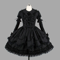lolita dress lace peter pan collar bowknot victorian dress retro palace black gothic dress vestido lolita sweet lolita op loli