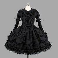 lolita dress lace peter pan collar bowknot victorian dress retro palace black gothic dress vestido lolita sweet lolita op loli