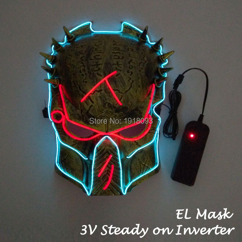 Luminous Costume Mask Colorful Flashing Mask LED Strip Light Mask for Halloween Cosplay Decoration with Steady on Driver