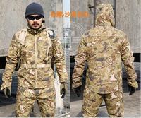 Открытый Армия Военная Униформа Маскировочные Костюмы Тактический Cargo форма (куртка + Брюки для девочек) Для мужчин камуфляжное хлопковое п