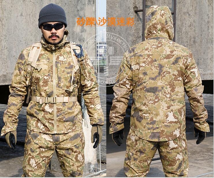 Outdoor Army Military Ghillie Suits Tactical Cargo Uniforms (Jacket +Pants) Men Camouflage Cotton Coat Trousers Sport Clothing lurker shark skin soft shell v4 military tactical jacket men waterproof windproof warm coat camouflage hooded camo army clothing