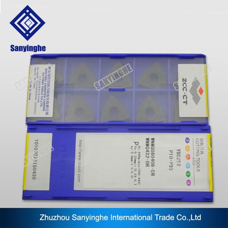 free shipping zcc ct 10pcs lots WNMG080408 DR WNMG080412 DR YBC252 cnc carbide turning inserts lathe