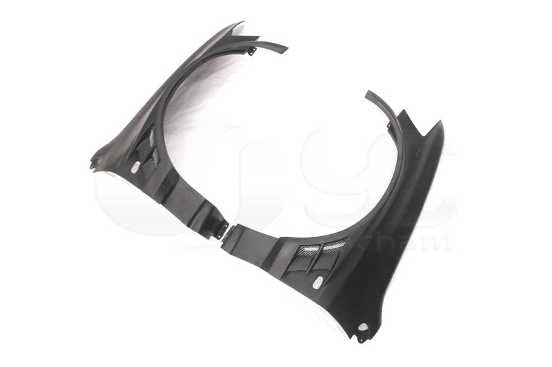 2001-2007 Mitsubishi Lancer Evolution 7-9 Voltex Cyber Version Style +20mm Front Fender with Flare FRP (3)
