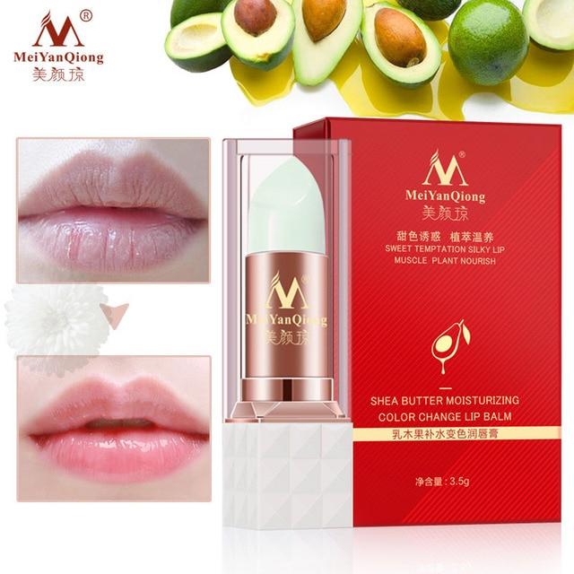 Manteca de karité hidratante cambio de Color bálsamo labial cuidado de la piel Anti envejecimiento labial planta maquillaje esencia SSwell